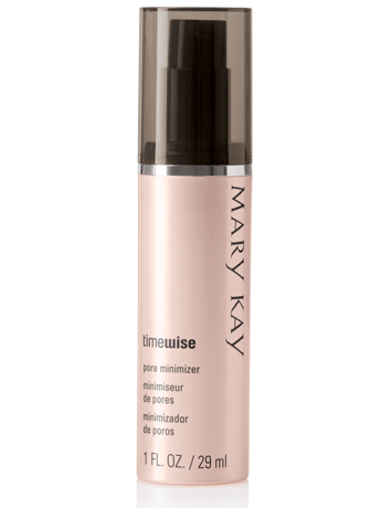 TimeWise Pore Minimizer from Mary Kay standing against a white background.